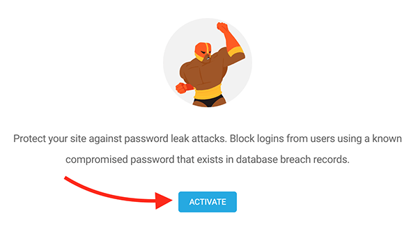 Where you click activate.