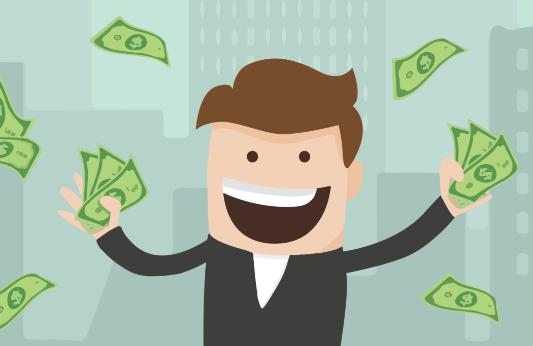 image of guy with money.