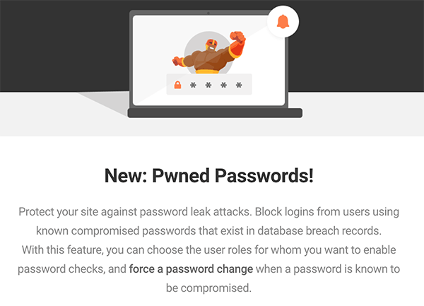 New Pwned Passwords notification.