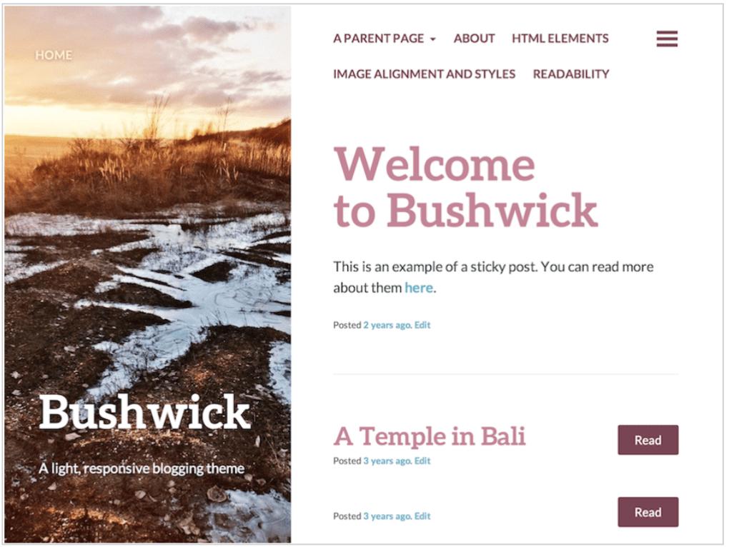 Bushwick theme