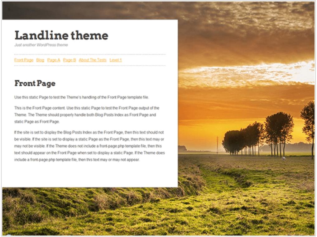 Landline theme