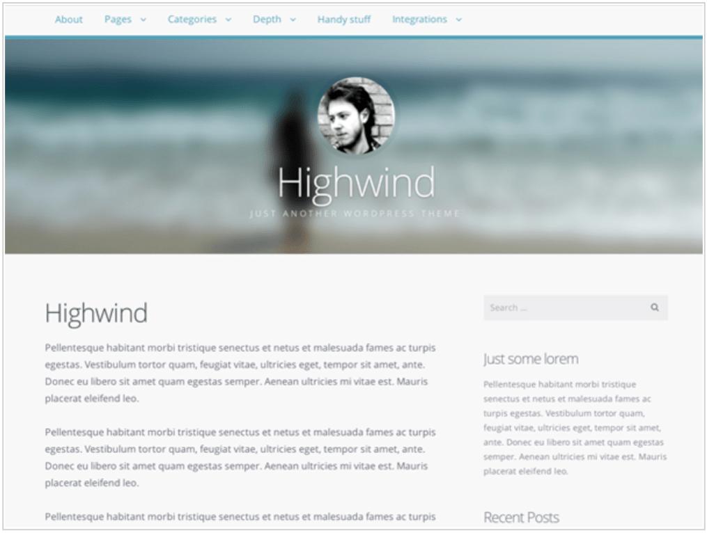 Highwind theme