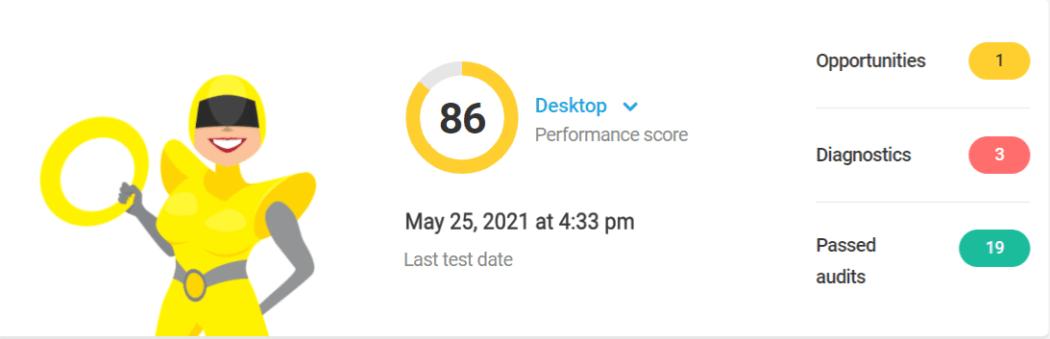 Hbird new version performance test score 86