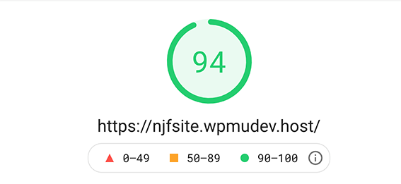2nd mobile google pagespeed insights score.