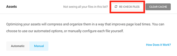 The re-check files option.