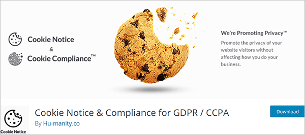 Cookie Notice & Compliance for GDPR / CCPA