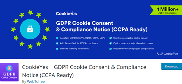 CookieYes | GDPR Cookie Consent & Compliance Notice (CCPA Ready)