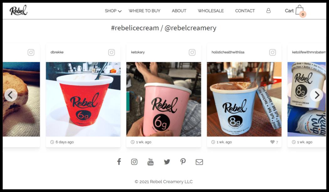 Rebel Creamery's site