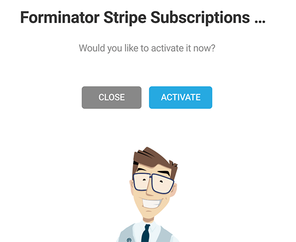 Where you activate the subscription option.