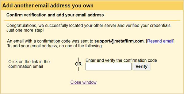 Gmail verify email address.