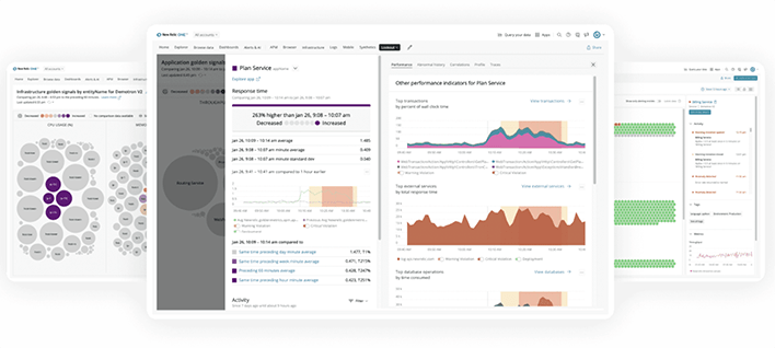 A New Relic overview.