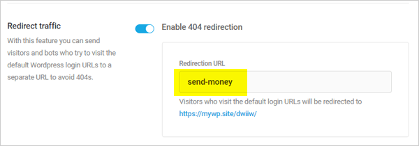 Defender Redirect Traffic URL