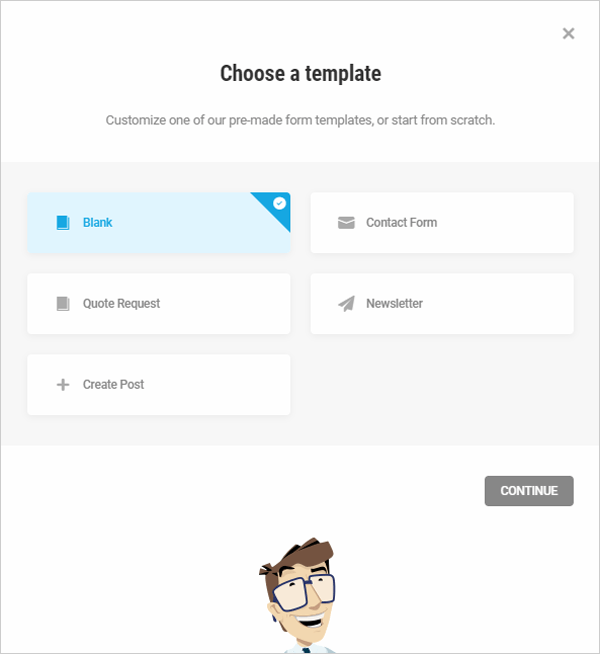 Forminator form templates.