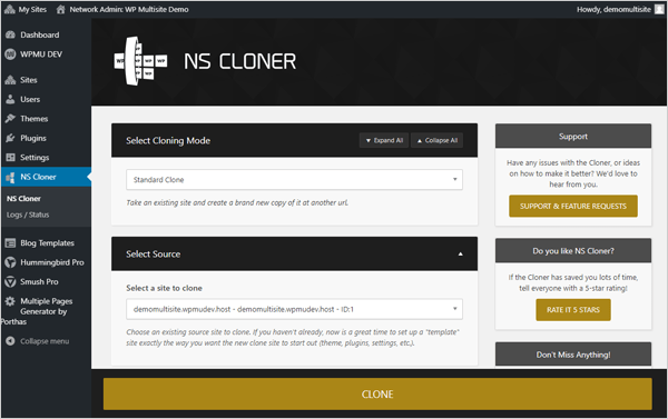 NS Cloner for WordPress Multisite