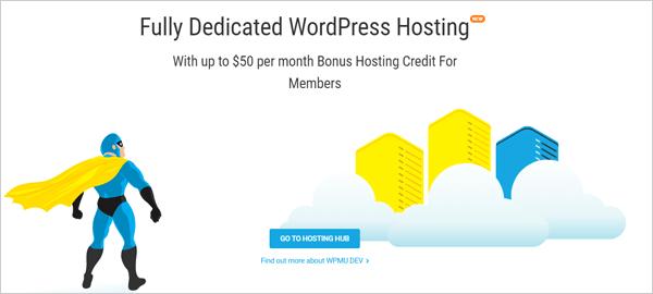 WPMU DEV - WordPress Hosting screen.