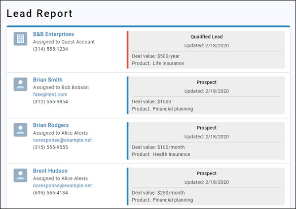 Less Annoying CRM lets businesses manage contacts and track leads from their WordPress dashboard.