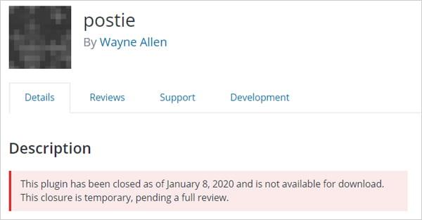 Postie suspension notice