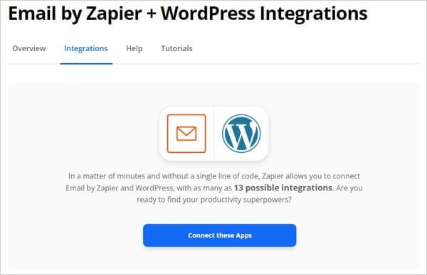 Zapier - Email to WordPress Integration