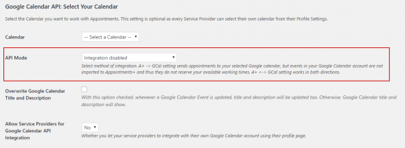Appointment - Two Way Sync with Google calendar?