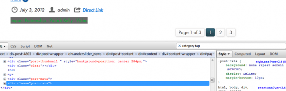 Custom CSS to fix menu issue
