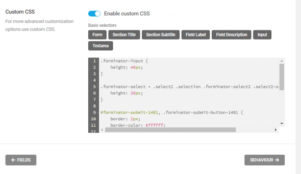 Forminator Pro] Want to add custom css for Submit button