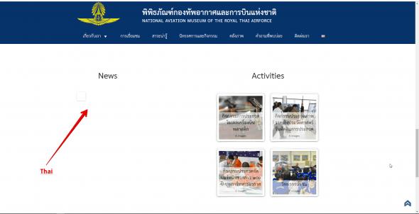 Widget not showing in secondary Language Website