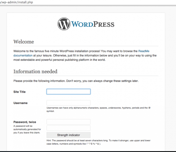 ... called and said they went to the site this morning and instead of  seeing the site it's showing the Wordpress install screen at /wp-admin/ install.php.