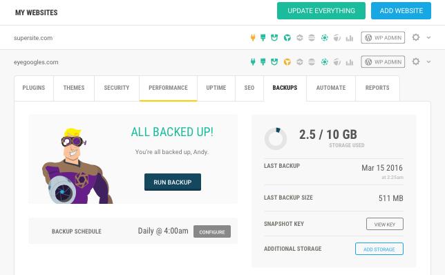 Hub - Backups