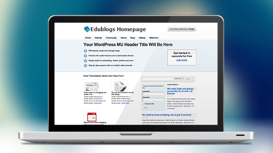 Edublogs-Homepage