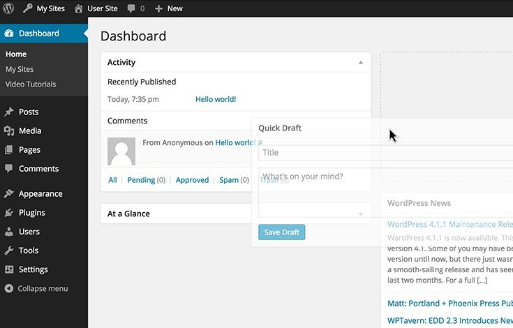 Give users a better start from the fully customizable dashboard.