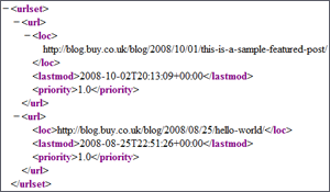 Example of what sitemap.xml looks like