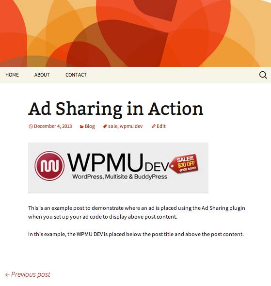 Ad Sharing