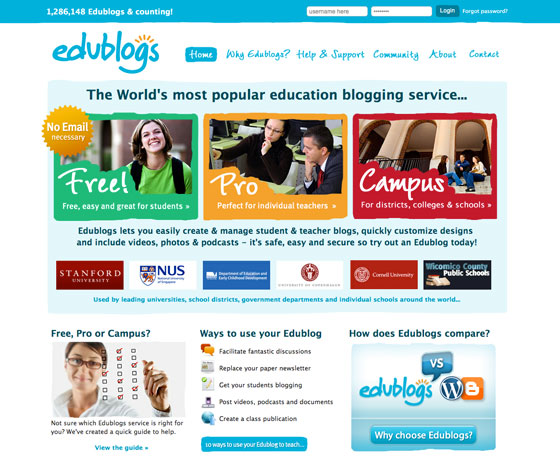 Edublogs Website