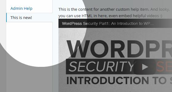 Admin Help Content Titles
