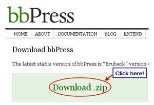Image of bbPress zip file
