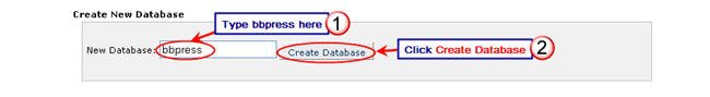 Image of creating a database