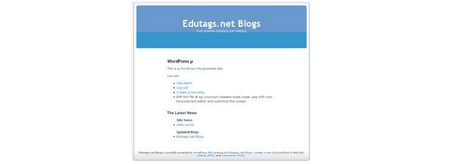 Image of new WPMU site