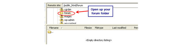 Image of opening forum folder