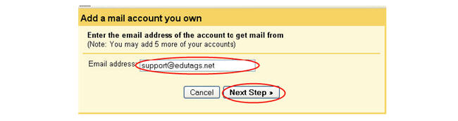Image of adding email to gmail
