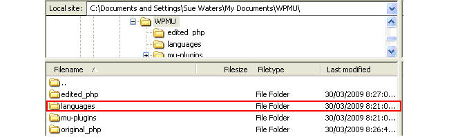 Image of language folder