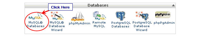 Image of MySQL tab