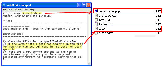 Image of a SQL text file in the zip file