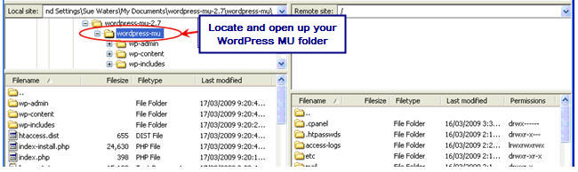 Image of WPMU folder