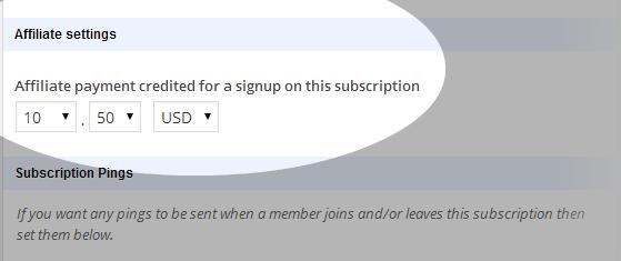 Affiliates - Membership add-on