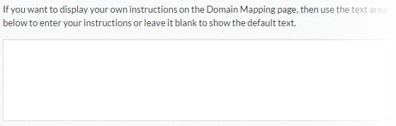 Domain Mapping - Optional Instructions