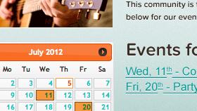 BuddyPress Group Calendar
