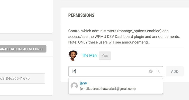 how to allow other admins to access the Dashboard on your site