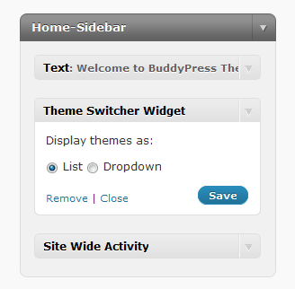 BuddyPress theme switcher