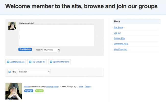 Edublogs Homepage Theme Activity