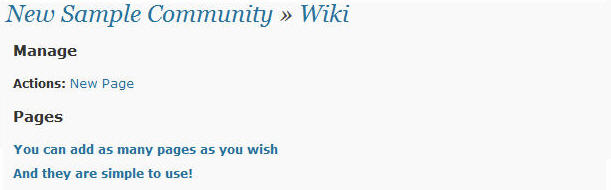 Wikis on a community